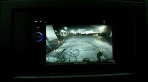 Na ekranie obraz z kamery, pracującej po zmroku.